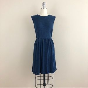 LOFT Denim Fit And Flare Dress
